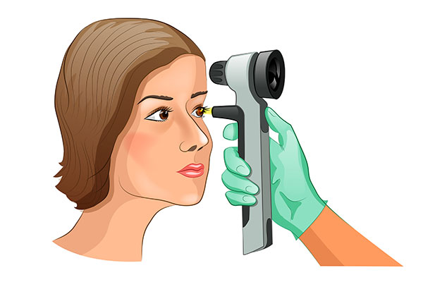 青光眼患者做视力检查